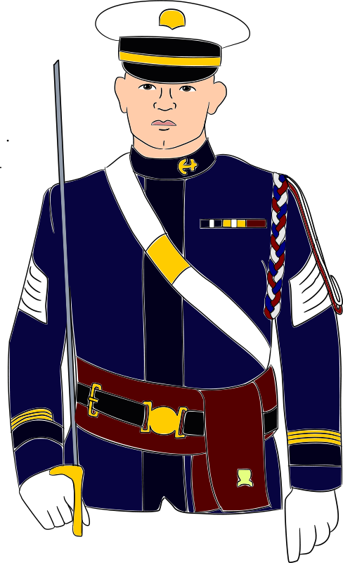 collection of military. Student clipart uniformed