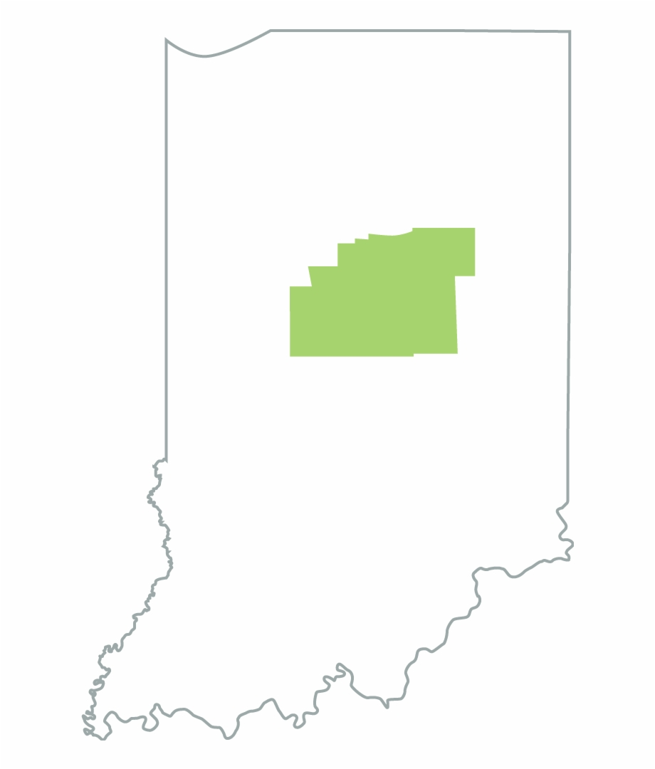 Districts map outline png. Indiana clipart became
