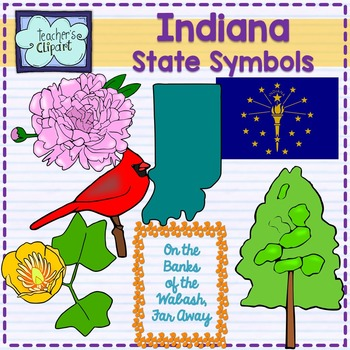 Indiana clipart became. State bird flag flower
