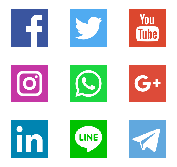 Facebook twitter instagram icons png. Free vector svg psd