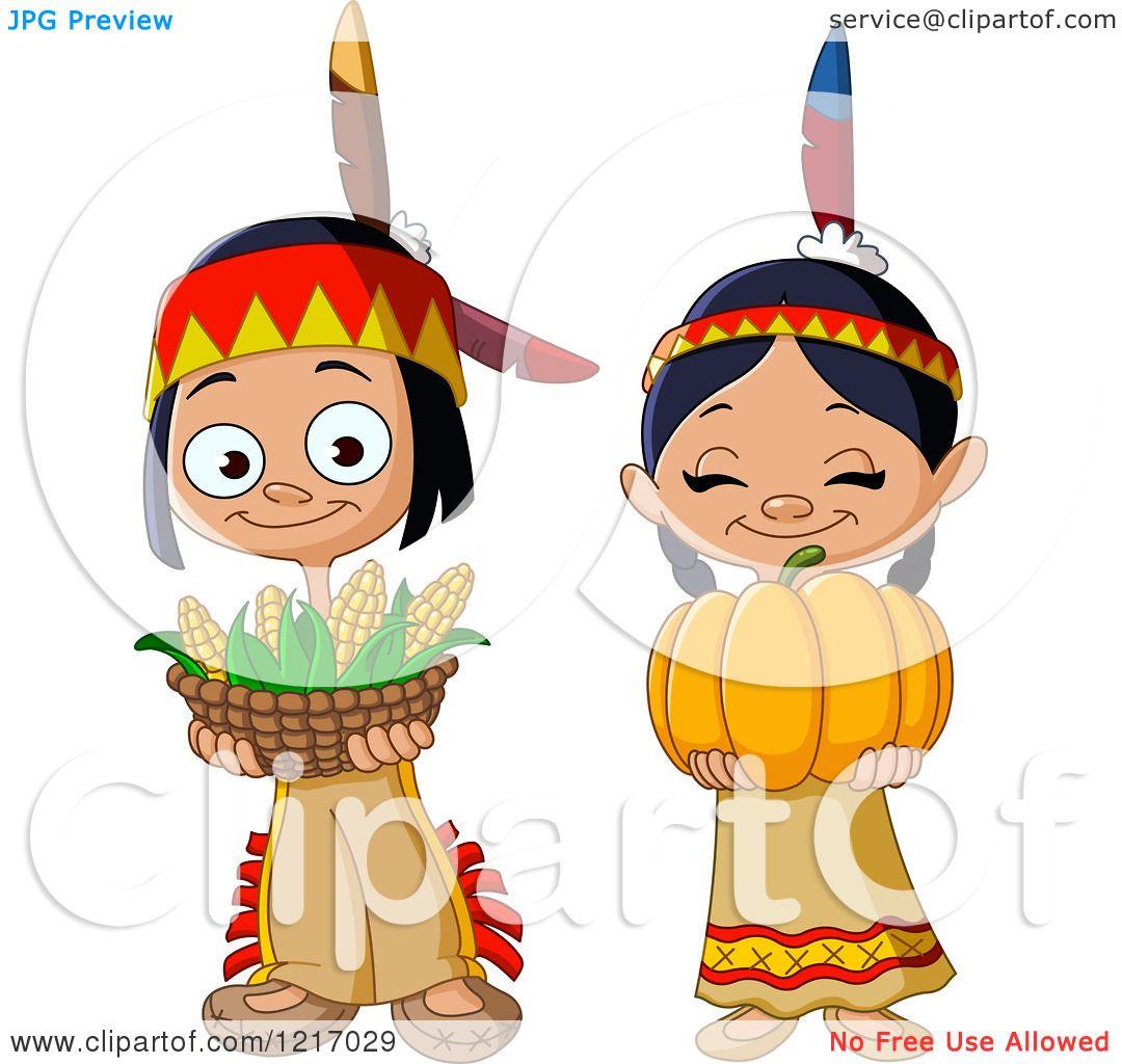 Free children thanksgiving clip. Indians clipart cute