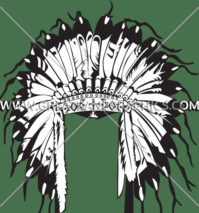 Warrior clipart headdress. Indian head dress production