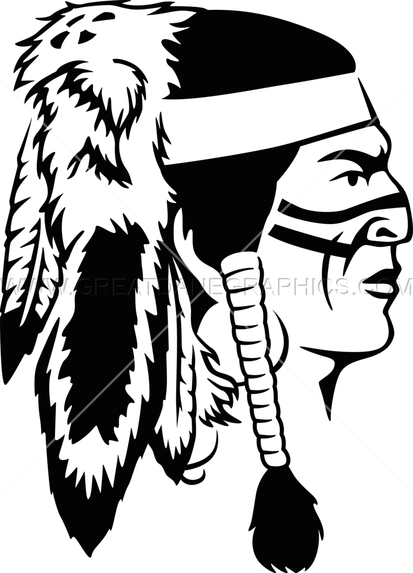 Warrior clipart headdress. Indian production ready artwork