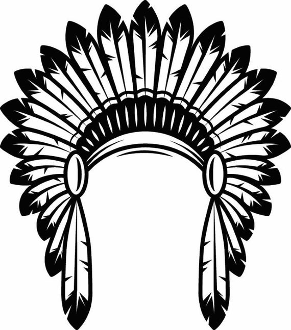 Native American Feather Headdress Vector. Royalty Free Cliparts, Vectors,  And Stock Illustration. Image 95846931.