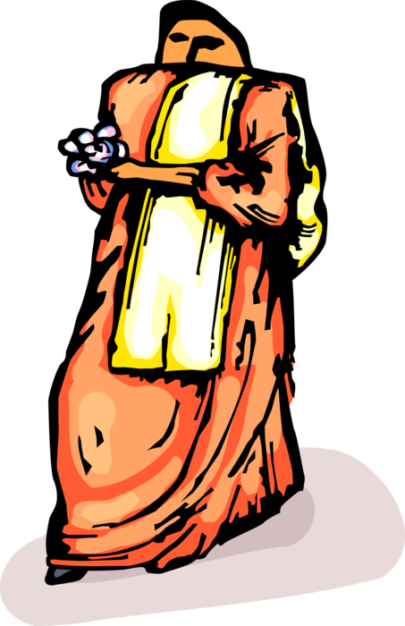 Indians clipart holding. Indian woman in traditional
