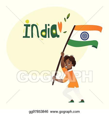 Indians clipart holding. Vector art indian boy