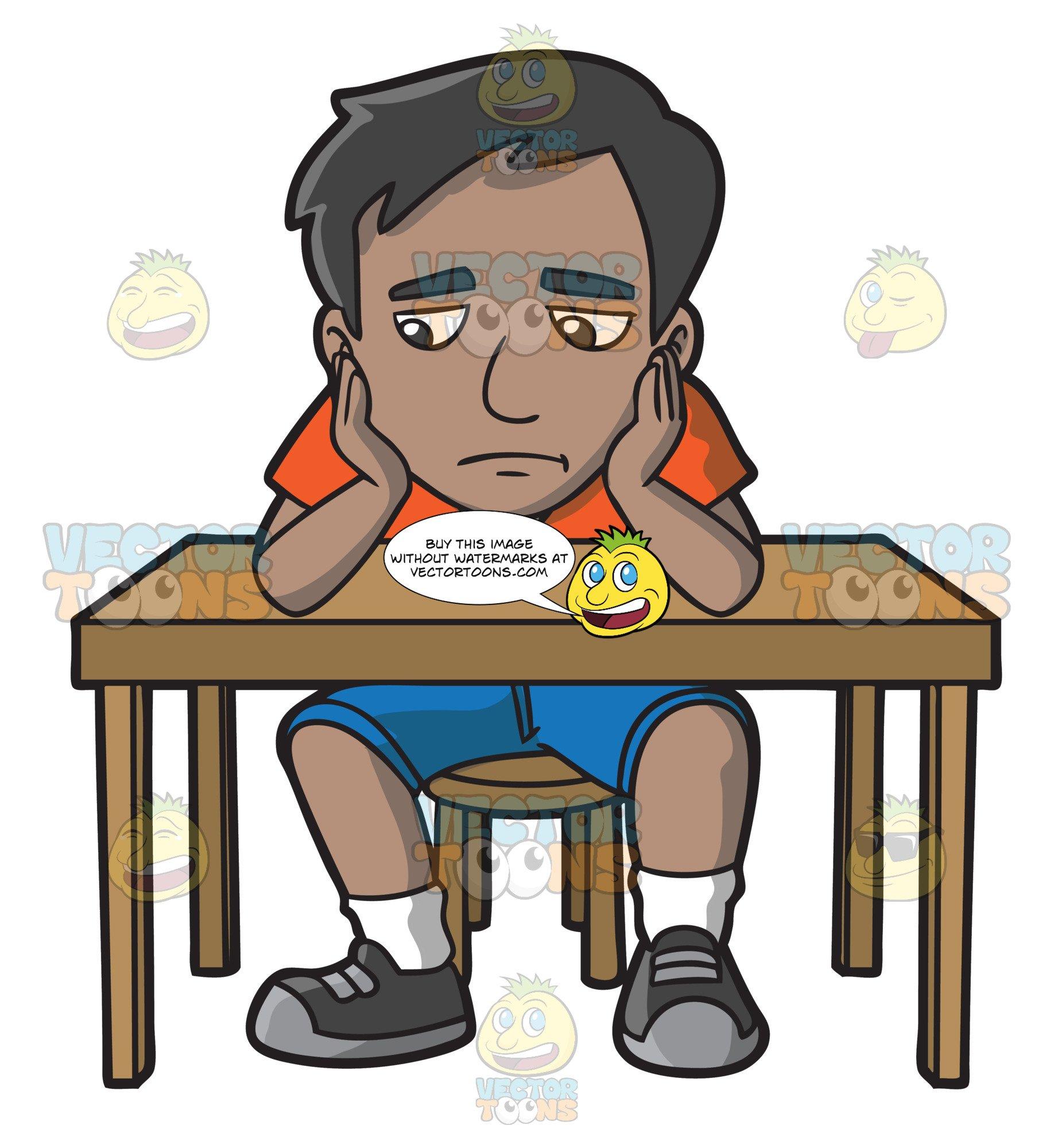 A indian man slumped. Indians clipart sad