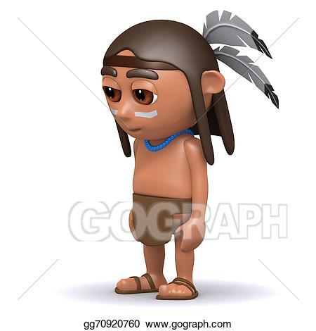 Indians clipart sad. Drawing d native american