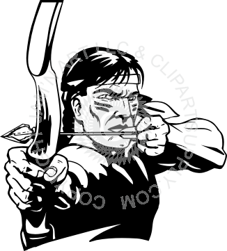 Indians clipart shooting bow. Indian holding and arrow