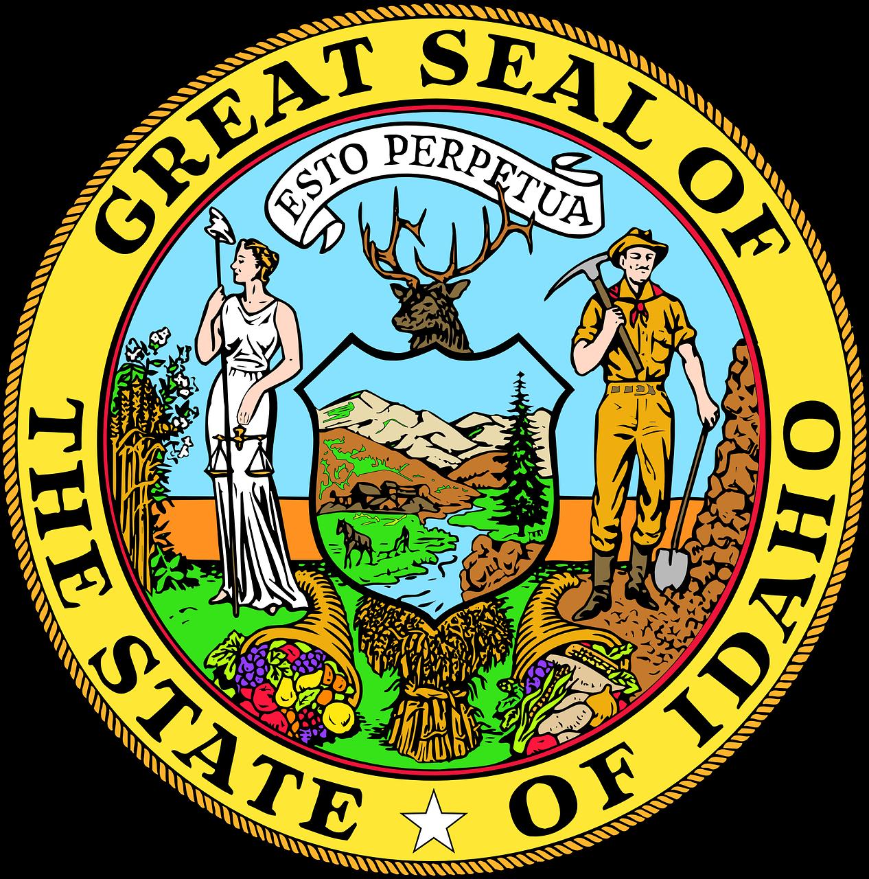 Indians clipart shoshone. Idaho state usa seal