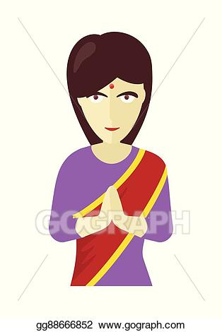 Indians clipart traditional man indian. Vector stock woman in