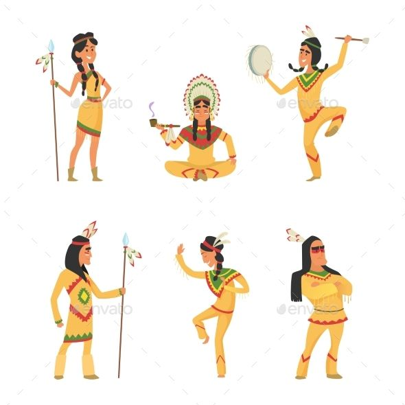 Indians clipart traditional man indian. Native american cartoon characters
