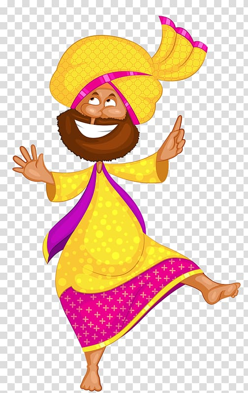 Indians clipart traditional man indian. Male wearing yellow turban