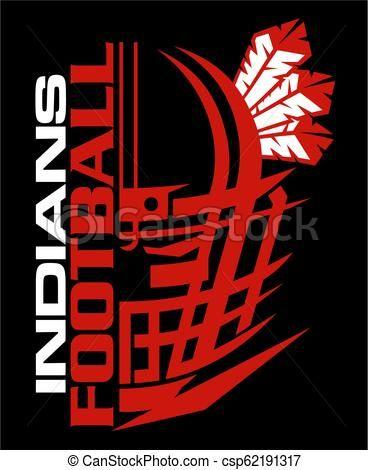 Football stock illustration royalty. Indians clipart vector