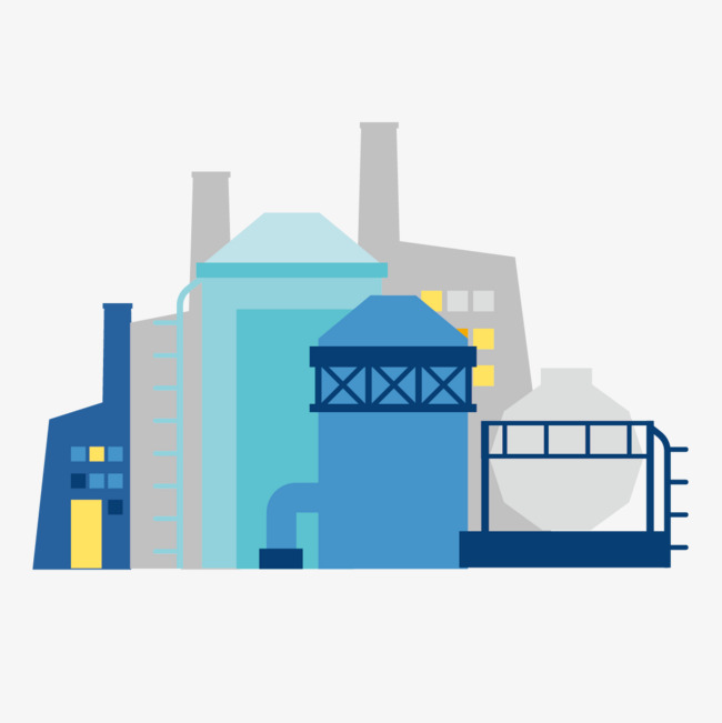 Industry clipart. Industrial park flat png