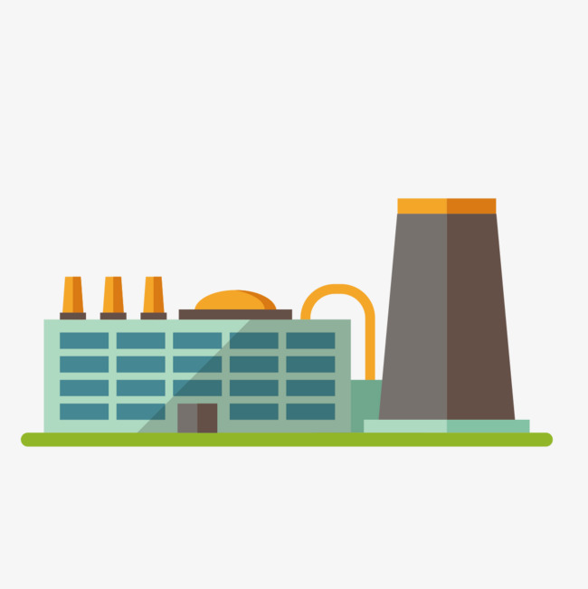 Industry clipart. Industrial building park pollution