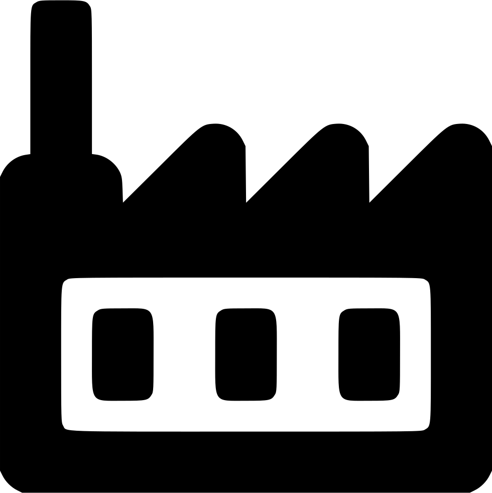 Industry clipart factory icon. Buidling company work plant