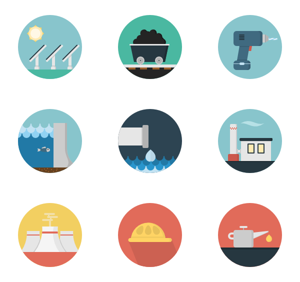 technological machine packs. Industry clipart factory icon