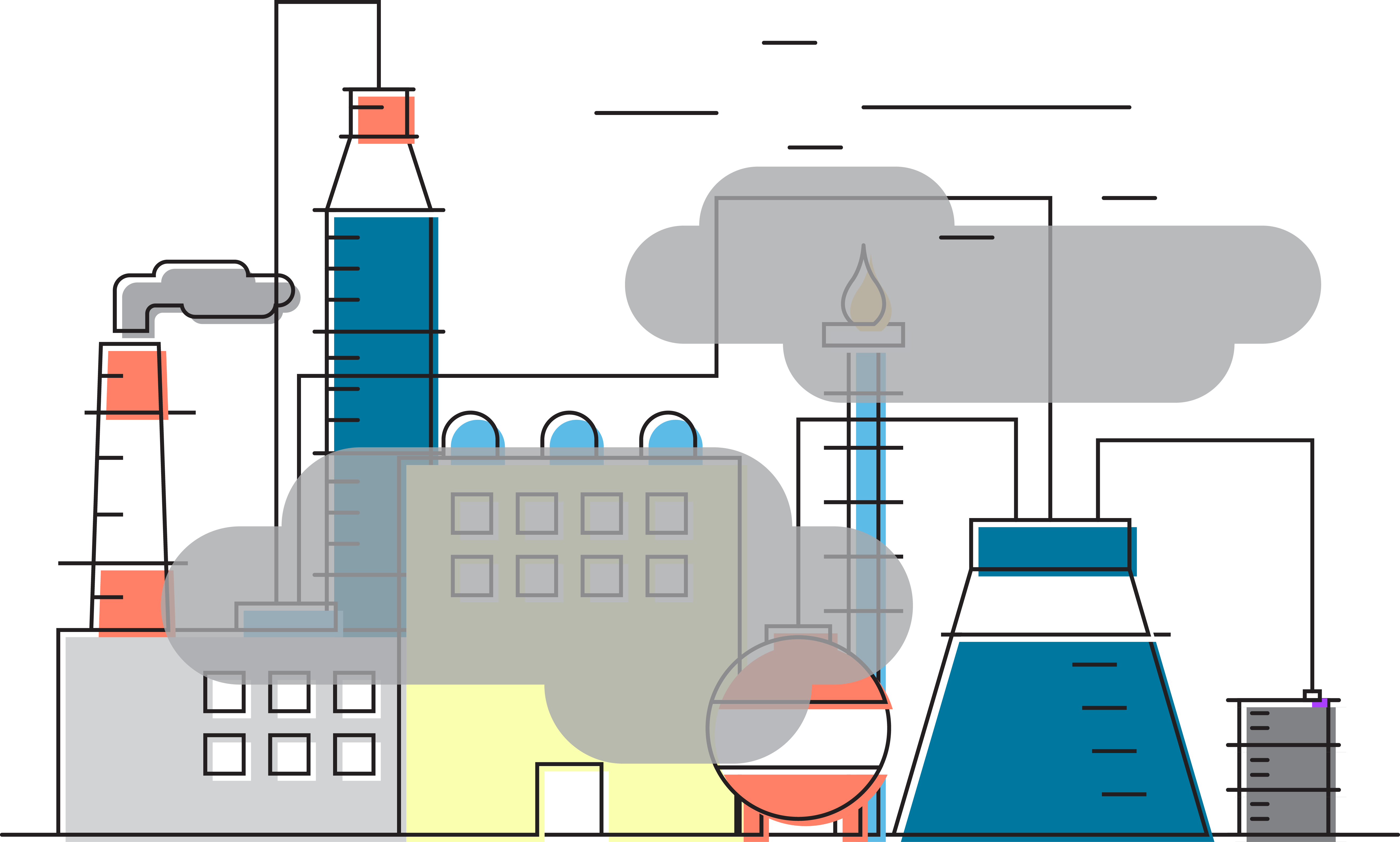 Air vector transprent png. Industry clipart industrial water pollution