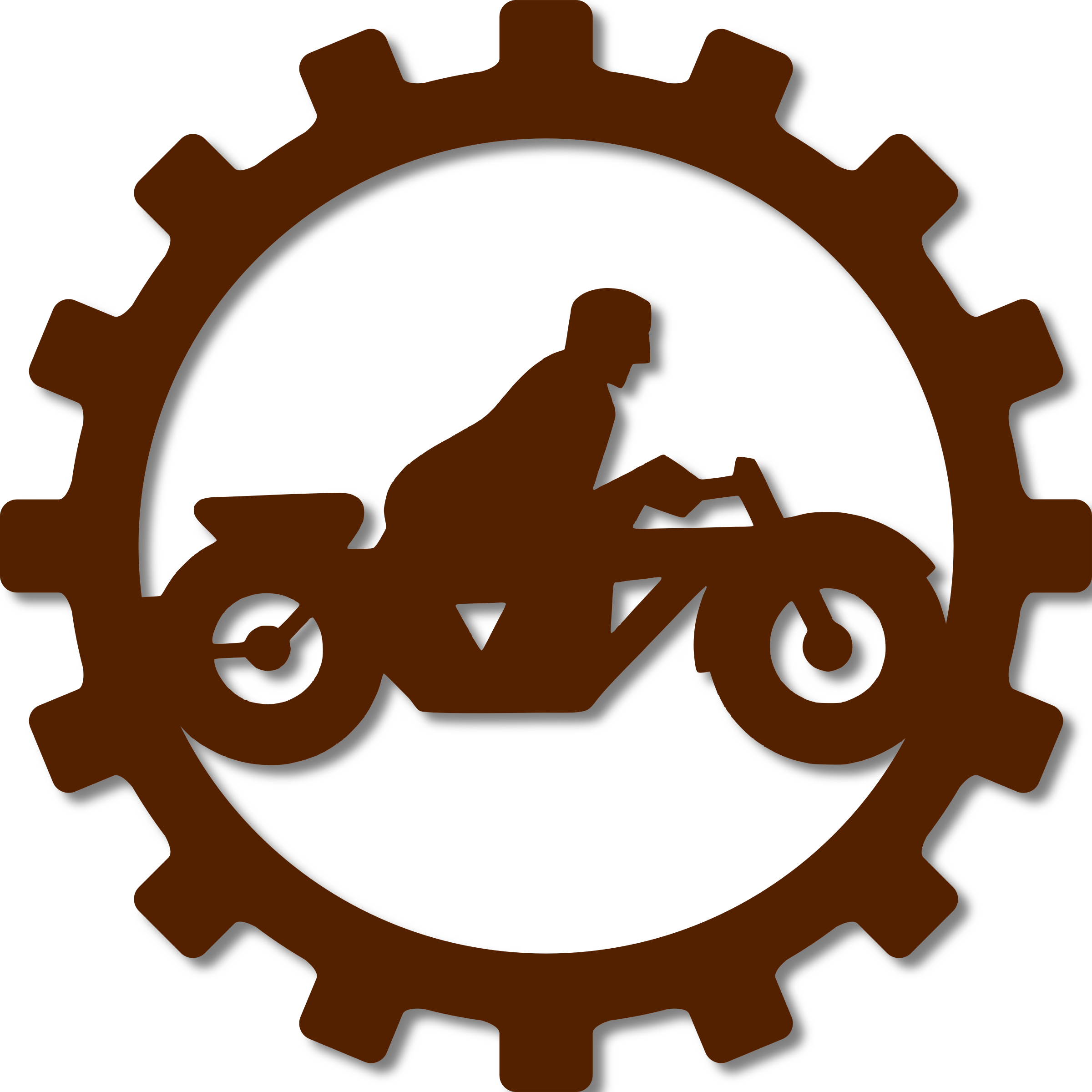 Motorcycle clipart orange. Oldtimer mechanic part big