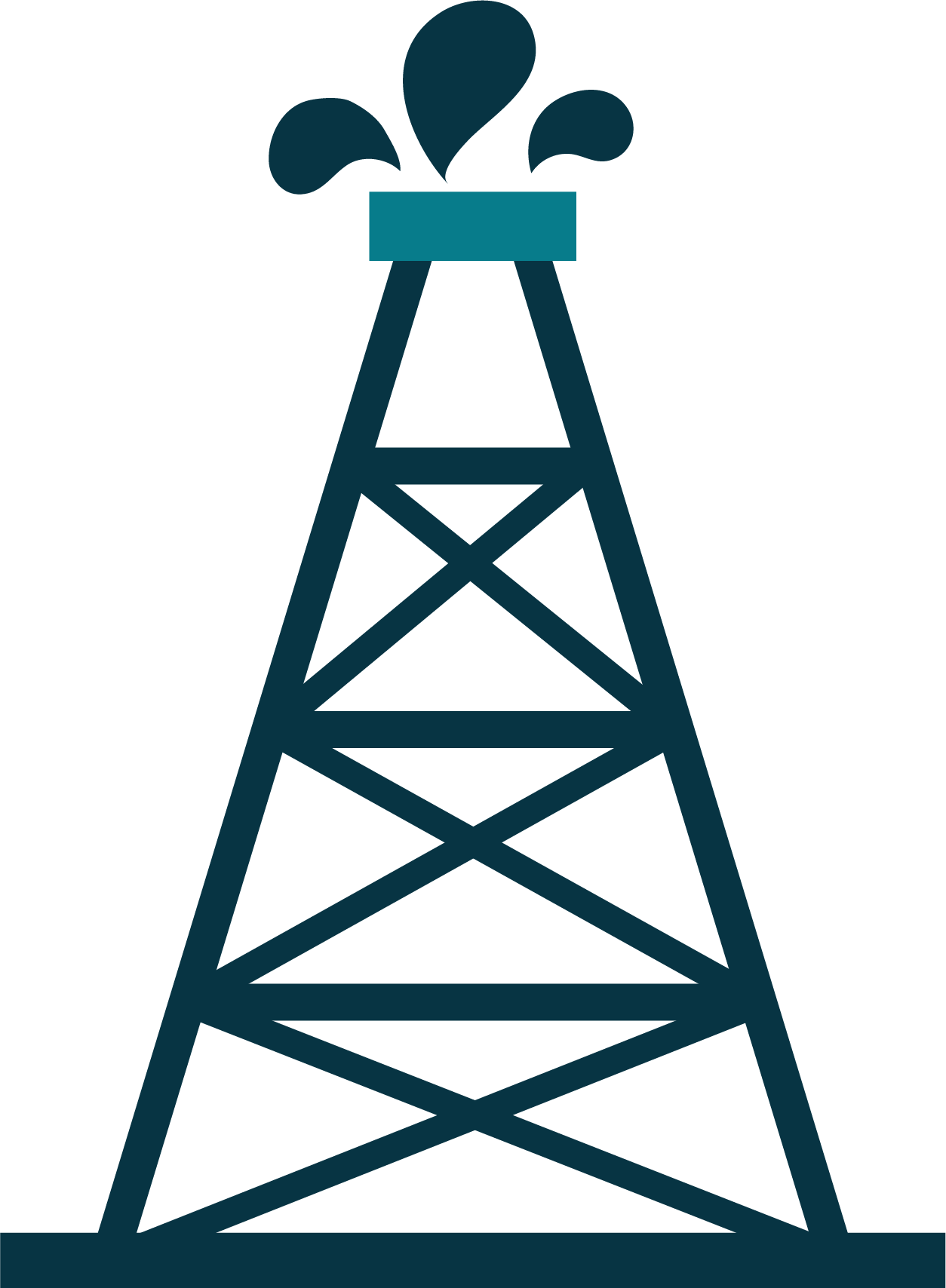Petroleum engineering refinery rig. Industry clipart oil company