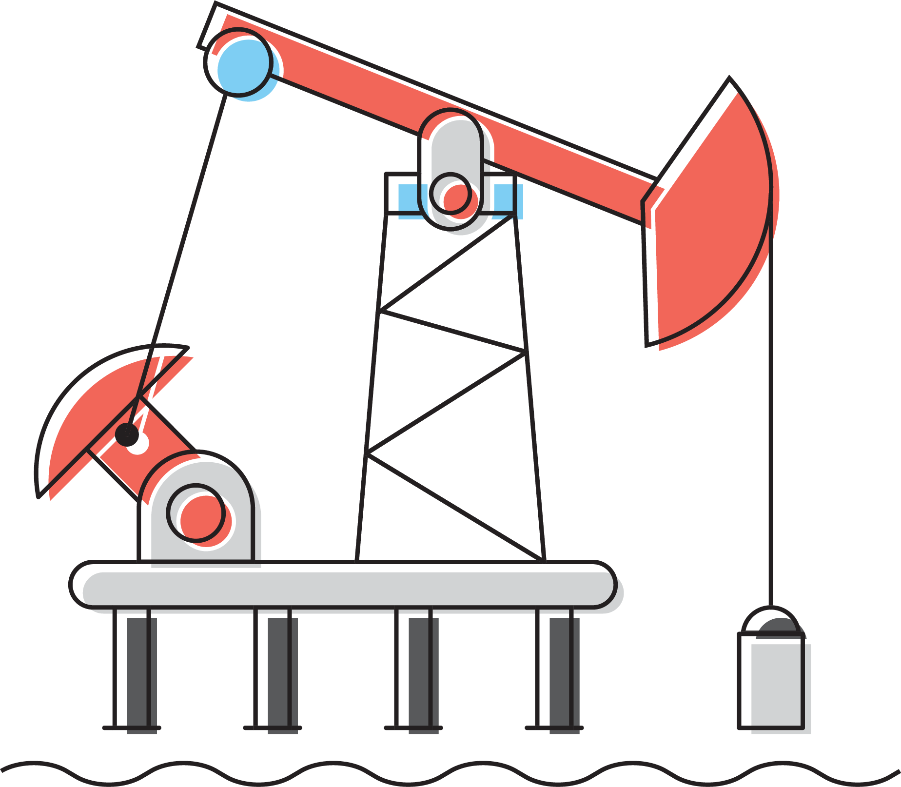 Oil clipart oil extraction. Of petroleum drawing field