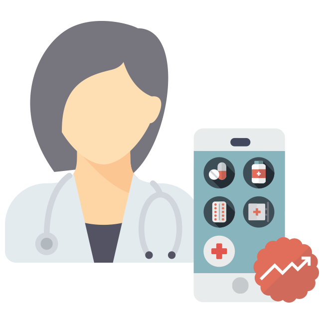 Gamification for the pharmaceutical. Manager clipart sale rep