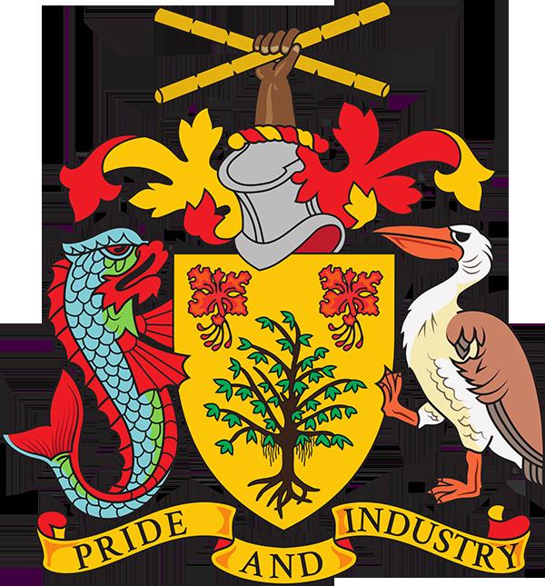 Barbados coat of arms. Industry clipart sugar industry