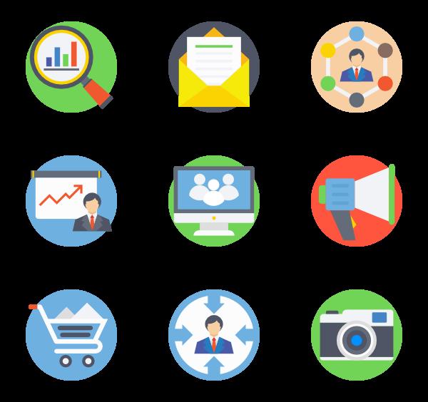 Marketing icons free digital. Market clipart vector