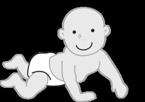 Infant clipart. Crawling clip art at