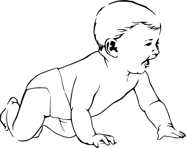 Crawl clip art free. Infant clipart