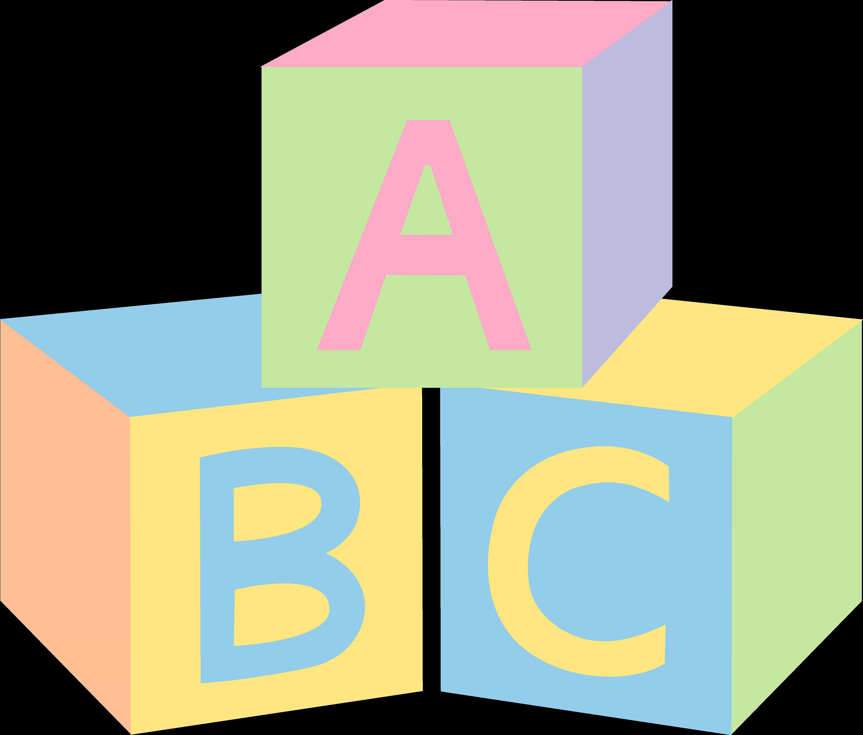 Alphabet blocks litlestuff pastel. Letters clipart baby