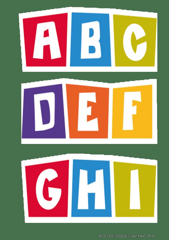 Letras pocoyo para imprimir. Infant clipart alphabet block