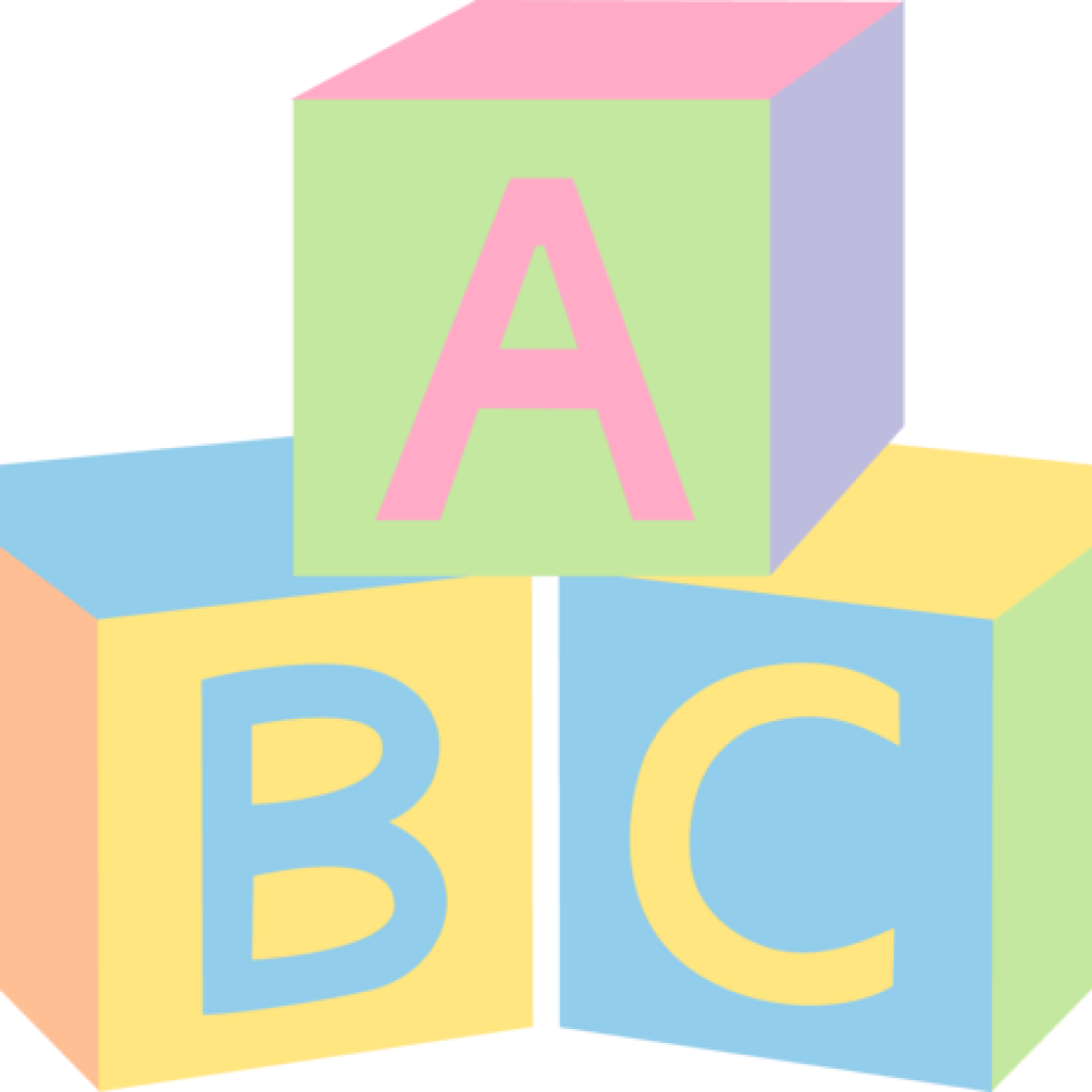 Infant alphabet block