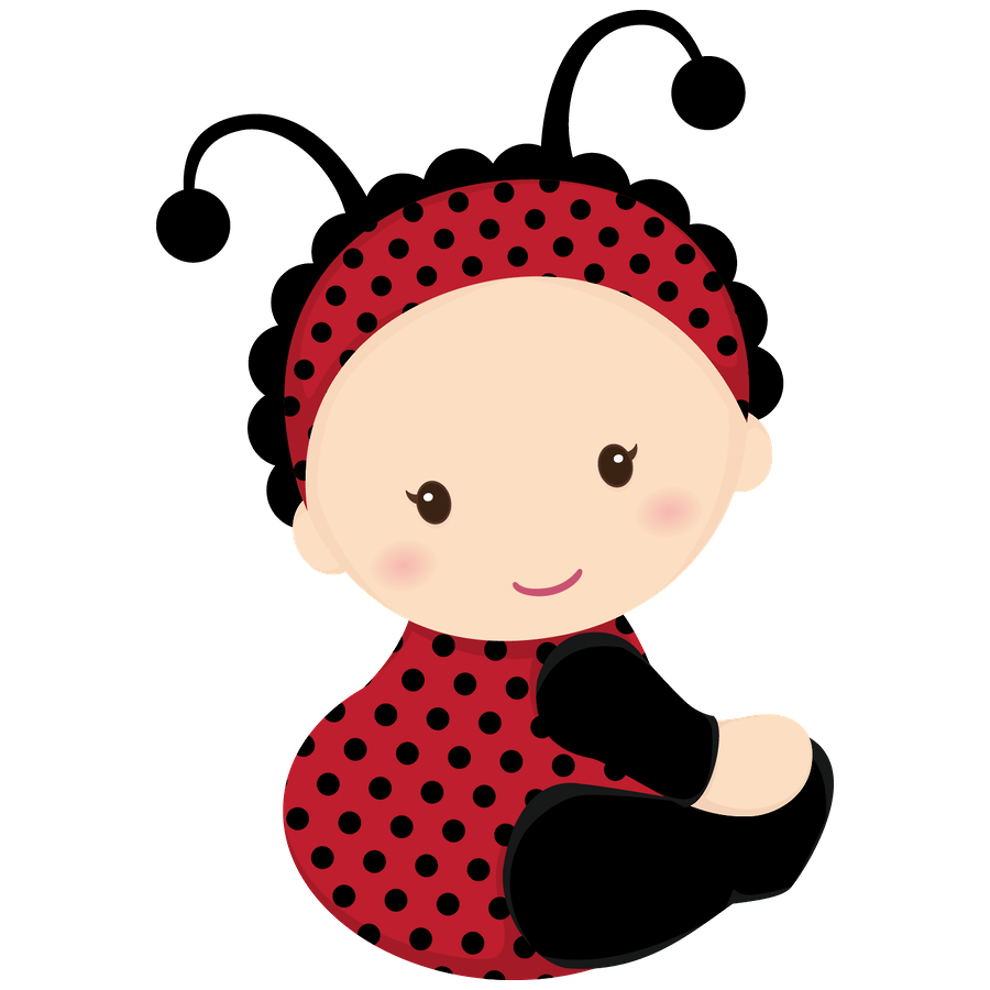 Ladybird shower clip art. Infant clipart baby hair