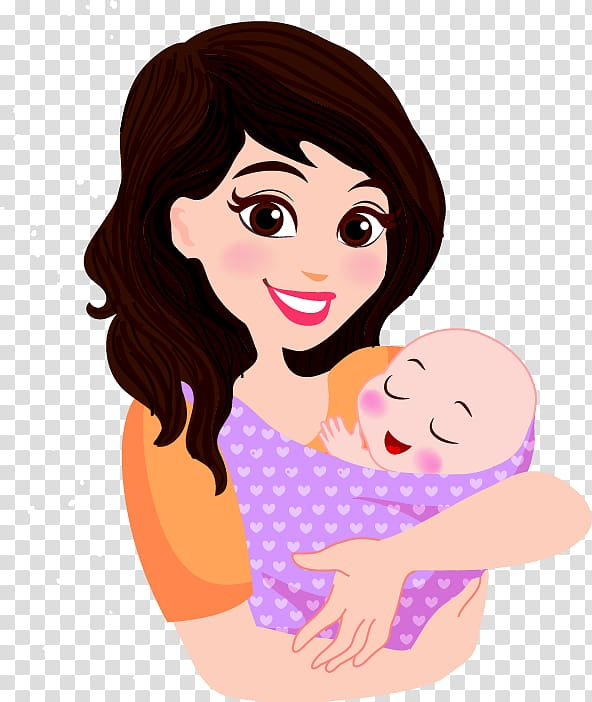 Infant clipart baby hair. Woman carrying illustration mother