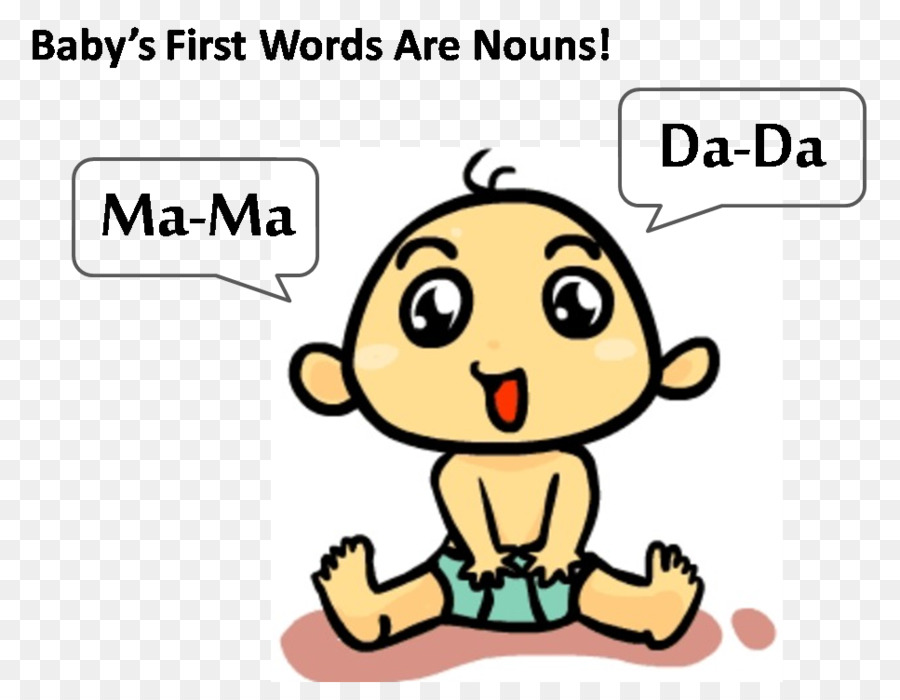 Mother child word transparent. Infant clipart baby talk