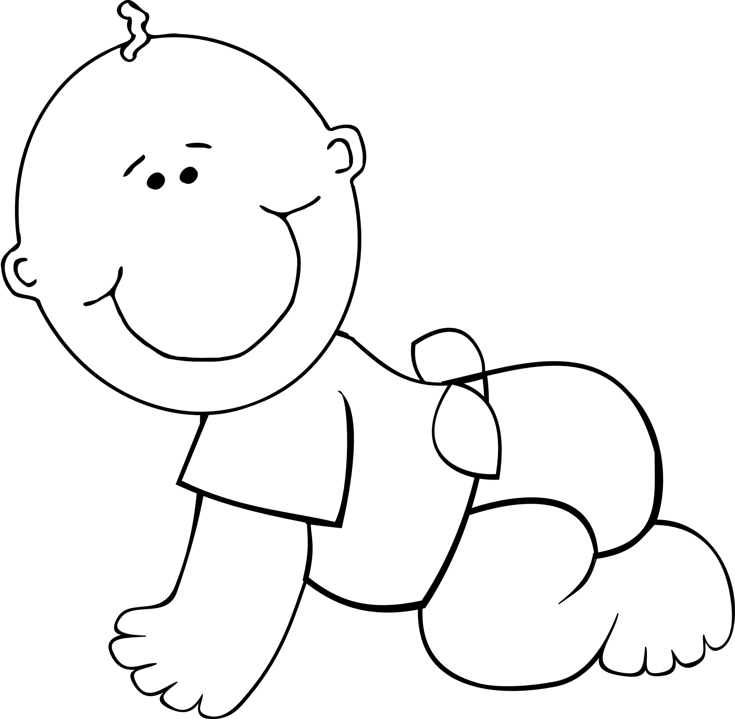 collection of baby. Infant clipart black and white
