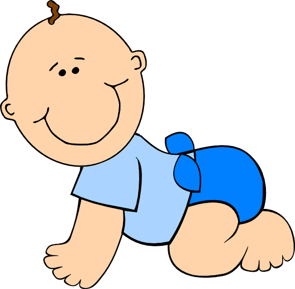 Infant clipart happy baby. Diaper free content clip