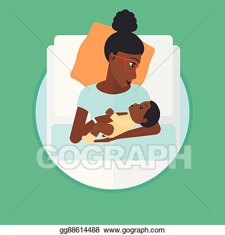 Eps vector woman with. Infant clipart hospital baby