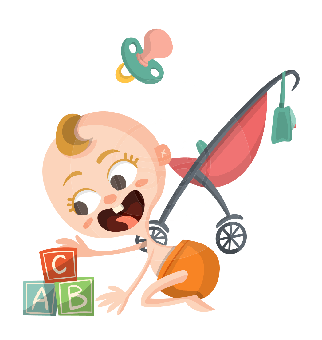 A themed vector graphic. Infant clipart lot baby