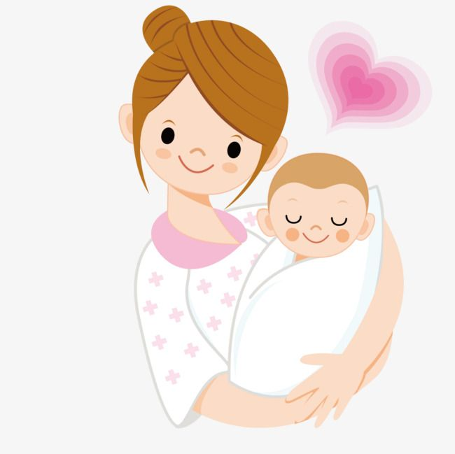Holding a baby vector. Mother clipart child free