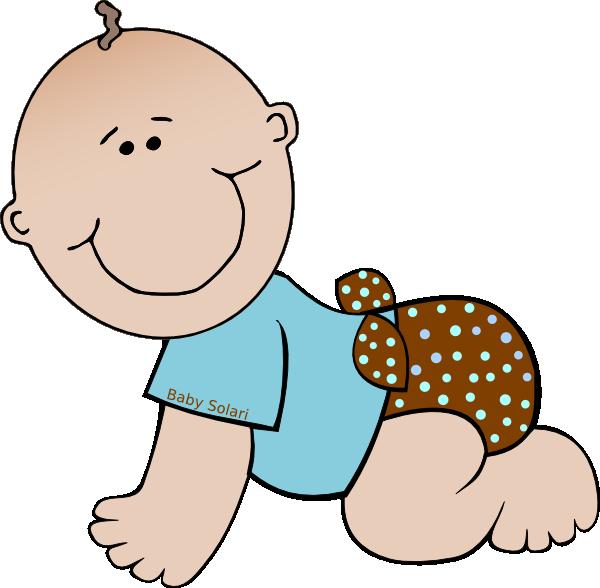 Infant clipart offspring. Baby solari polka dots