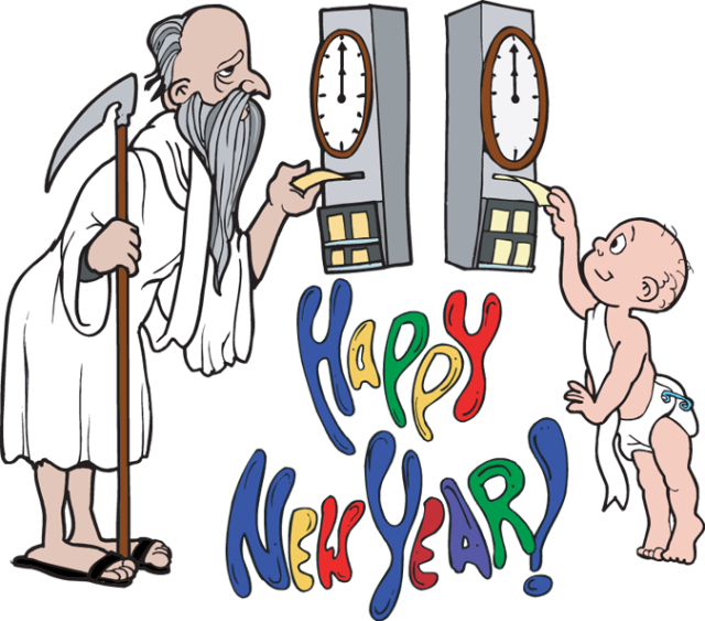 Father time new clip. Infant clipart year old