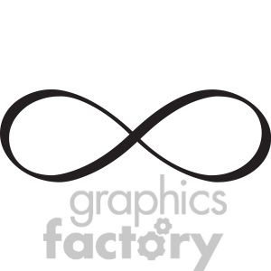Infinity clipart. Of symbol vector design