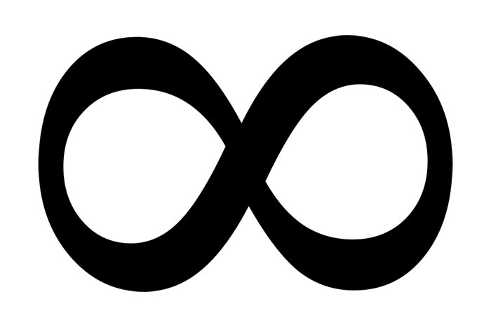 Free black and white. Infinity clipart cartoon