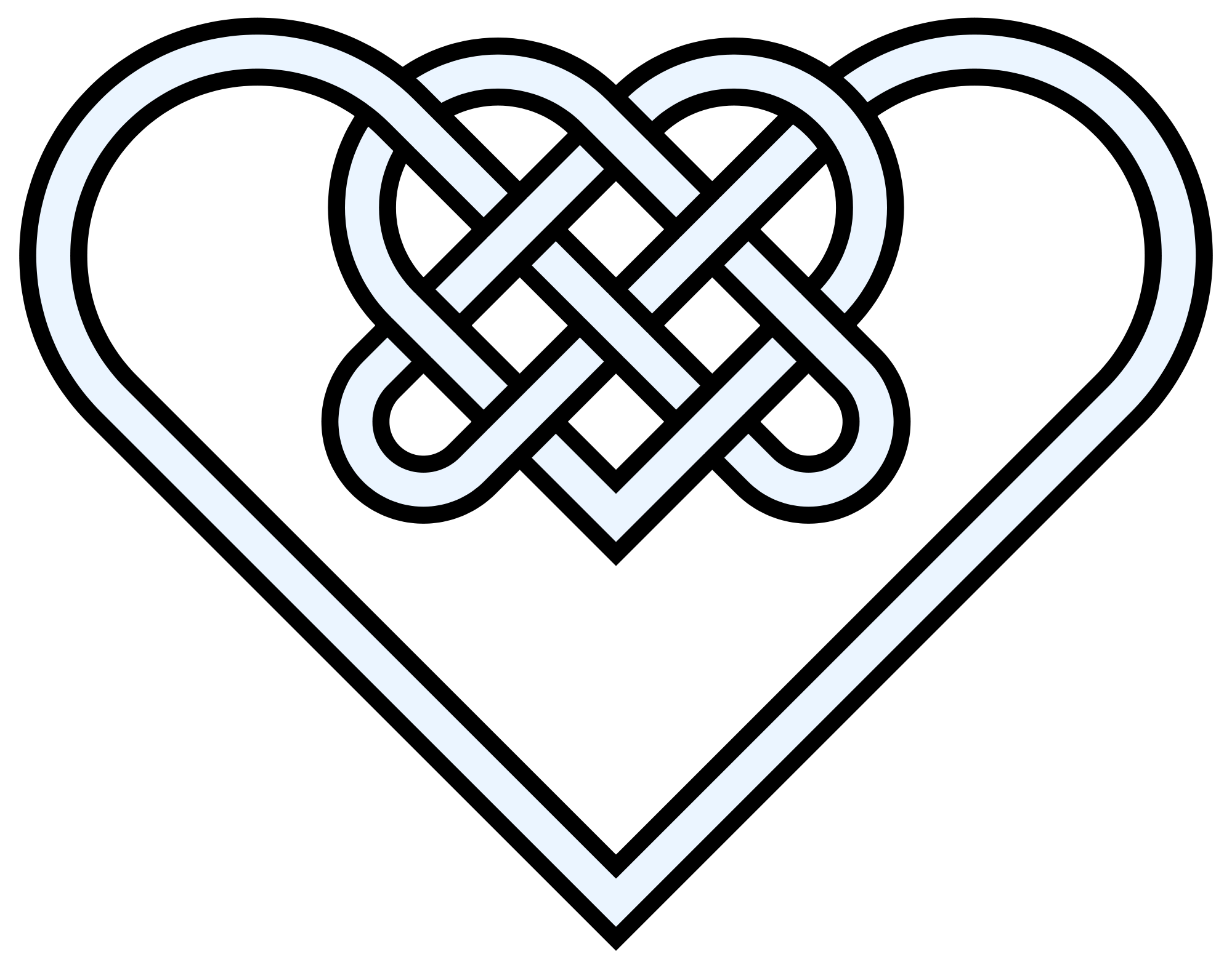 Double drawing at getdrawings. Knot clipart rope heart