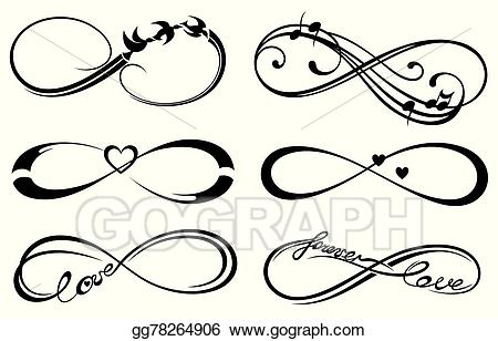 Infinity clipart infinity love. Eps vector forever symbol