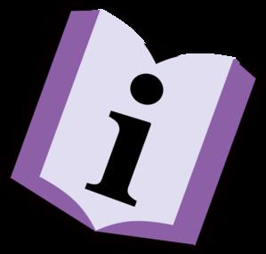 Information clipart. Purple book clip art