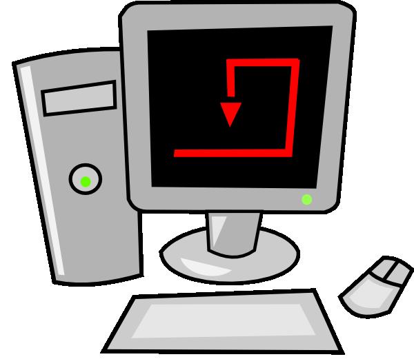 Free vector cartoon desktop. Information clipart computer technology